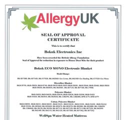 Allergy UK 인증